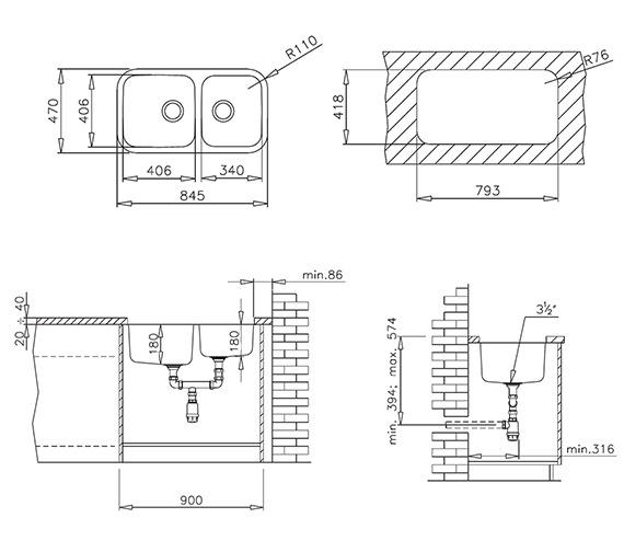 Technical drawing QS-V84266 / CTK2028