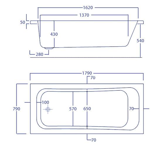 Technical drawing QS-V34576 / CABBI18580PA
