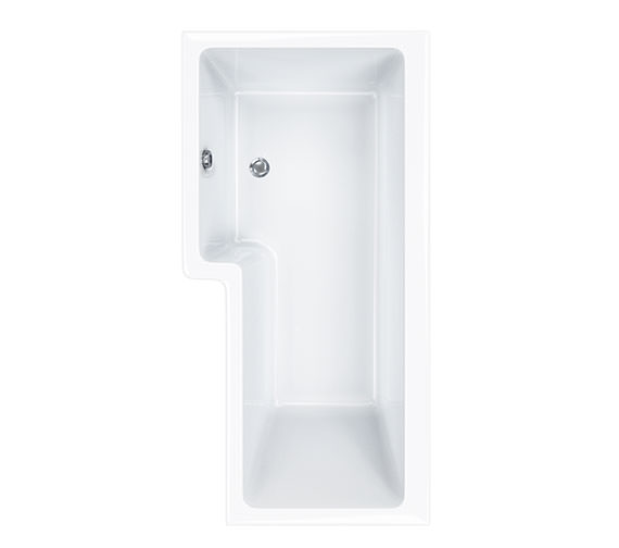 Carron Quantum Square 5mm Acrylic Right Hand Shower Bath 1600 x 850mm