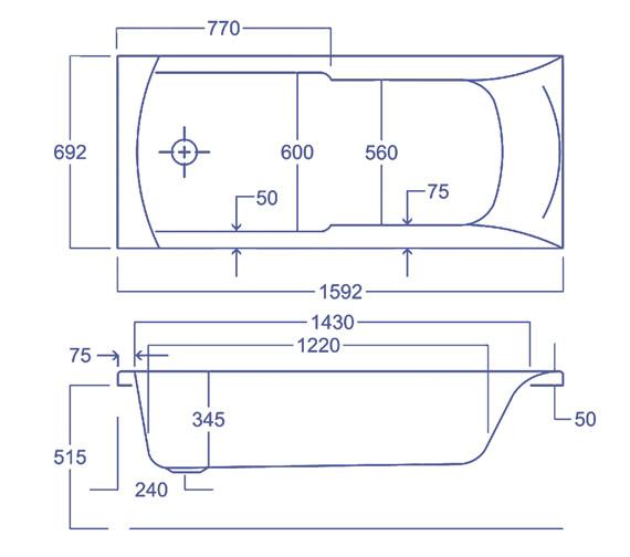 Technical drawing QS-V34590 / Q4-02124