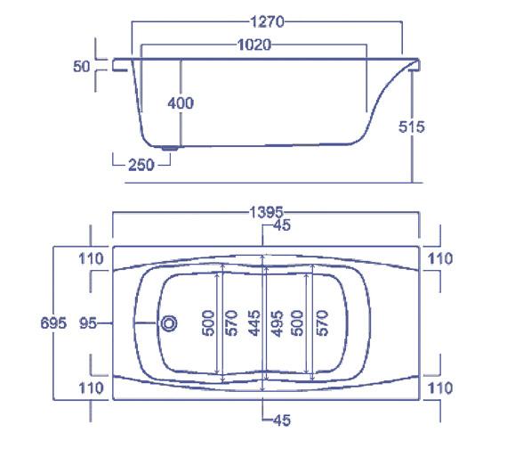 Technical drawing QS-V34763 / CABIM145TA