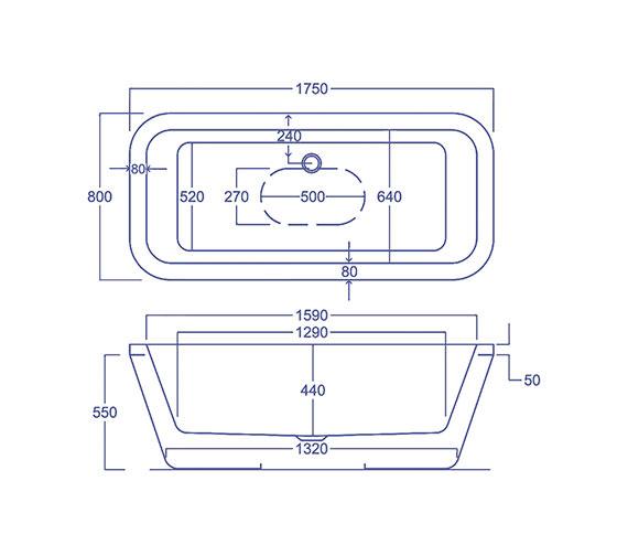 Technical drawing QS-V34588 / CABHLSQFS17085PA