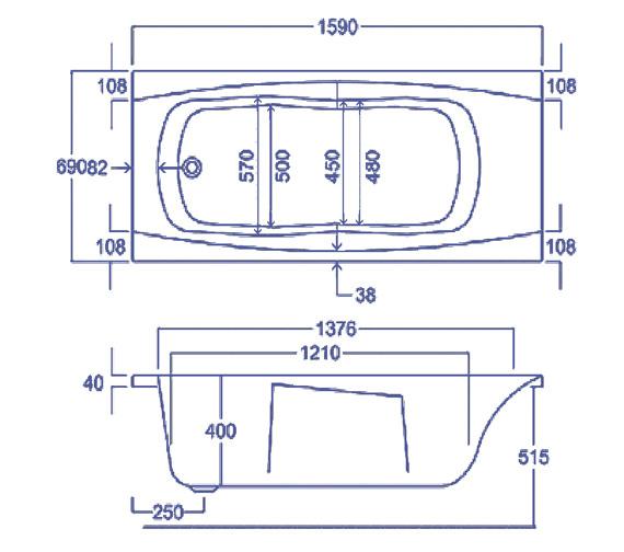 Technical drawing QS-V34764 / Q4-02110