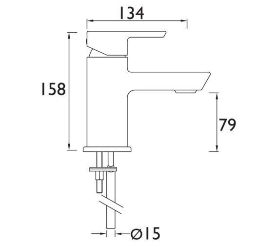 Technical drawing QS-V6932 / COB 1HBF C
