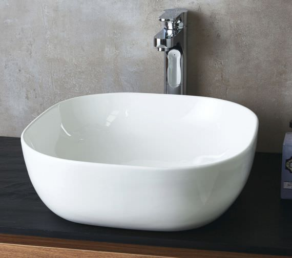 Phoenix 430mm Square Counter Top Ceramic Basin