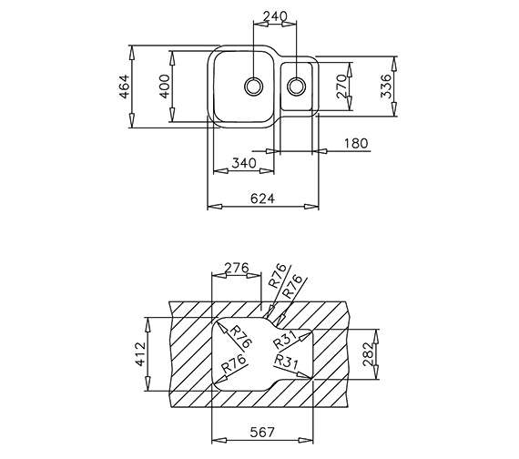 Technical drawing QS-V84264 / CTK2022