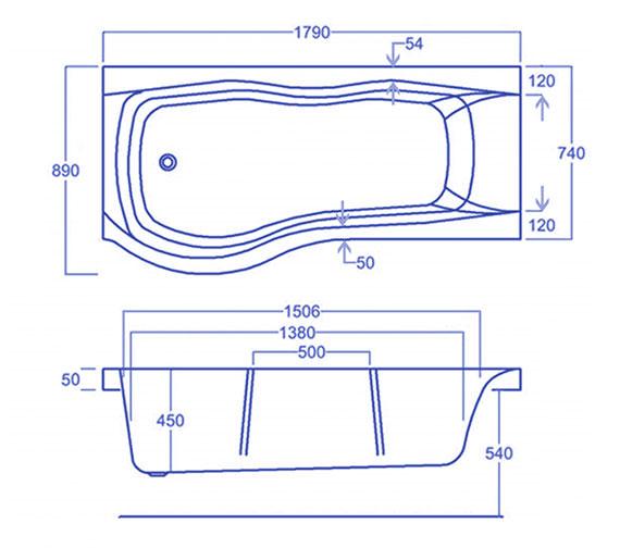 Technical drawing QS-V34562 / CABSISB185PALH