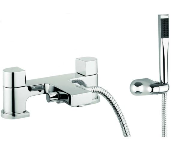 Lauren Block Dual Lever Deck Mounted Bath Shower Mixer Tap With Kit