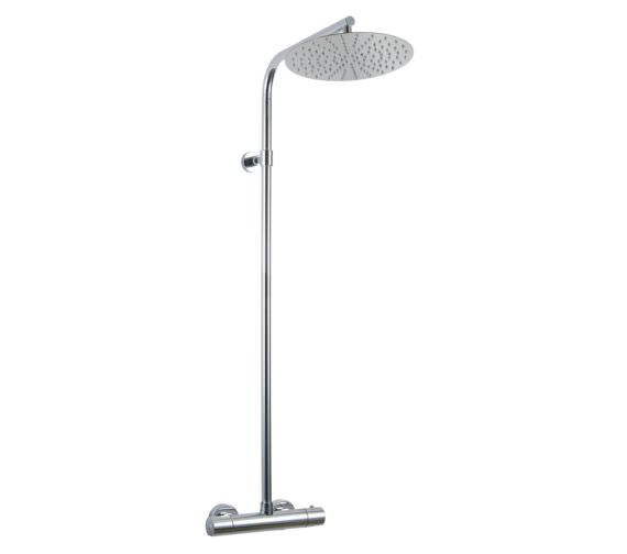Phoenix Round Thermostatic Shower Valve With Diverter Rail And Shower Head