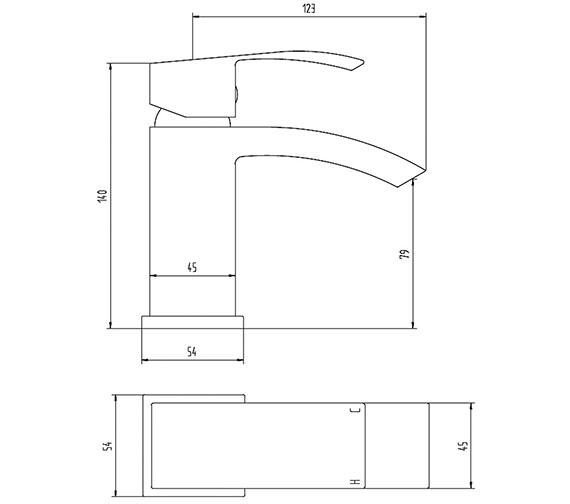 Technical drawing QS-V61430 / TSI305