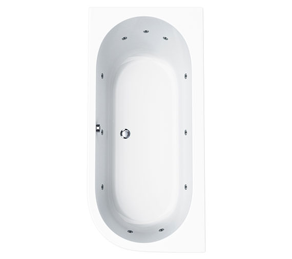 Carron Status 11 Jet Offset Corner Whirlpool Bath 1700 x 725mm