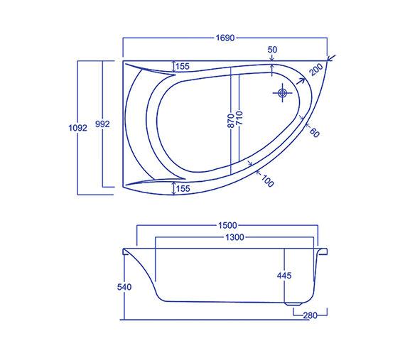 Technical drawing QS-V34585 / Q4-02238