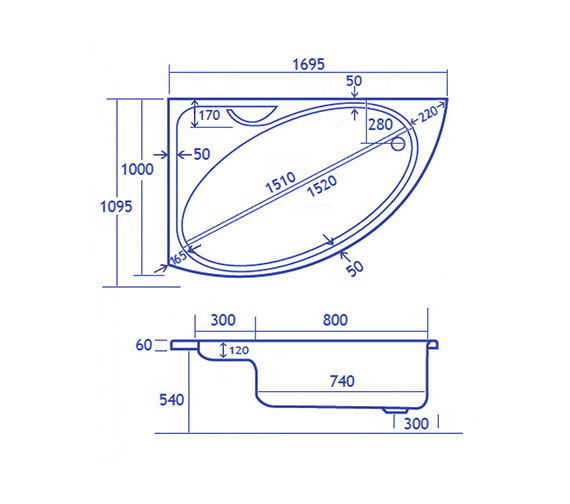 Technical drawing QS-V34587 / CACSW175PALH