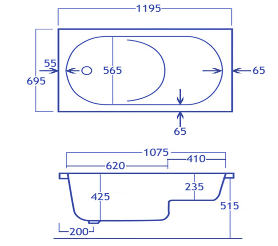 Technical drawing QS-V34593 / CABST125PA