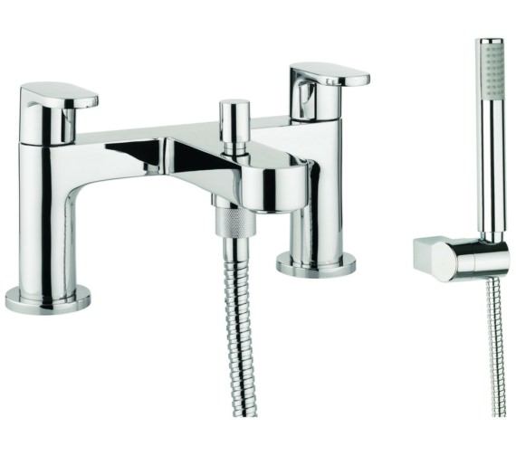 Lauren Silk Dual Lever Deck Mounted Bath Shower Mixer Tap With Kit