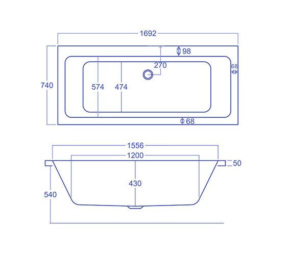 Technical drawing QS-V34555 / Q4-02157