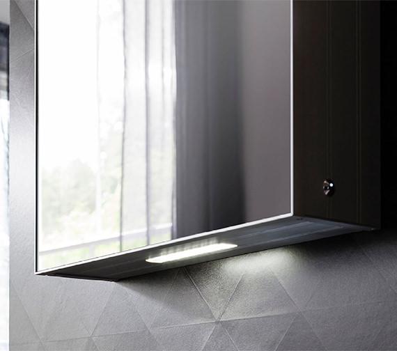 Additional image of Bauhaus Allure Single Door Mirror Cabinet 500 x 700mm