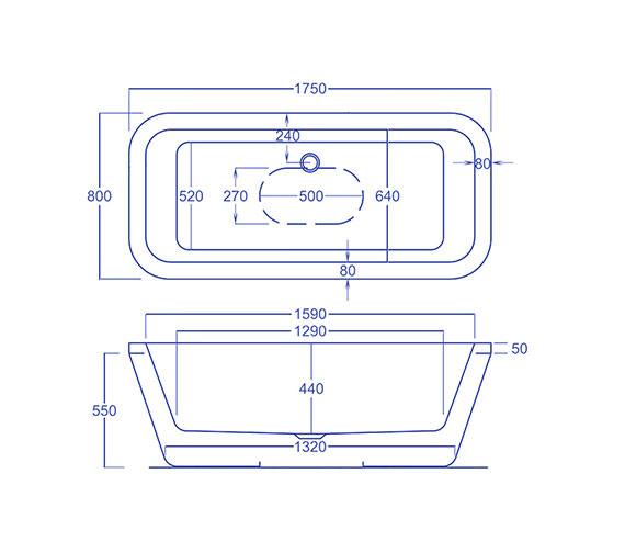 Technical drawing QS-V13182 / CHSQ1750800
