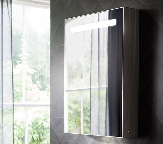 Bauhaus Allure Single Door Mirror Cabinet 500 x 700mm