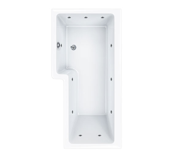 Carron Quantum Square 11 Jets Whirlpool Shower Bath 1700 x 850mm