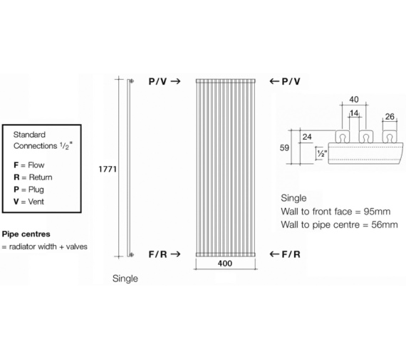 Technical drawing QS-V13590 / CUB1 177/10 V