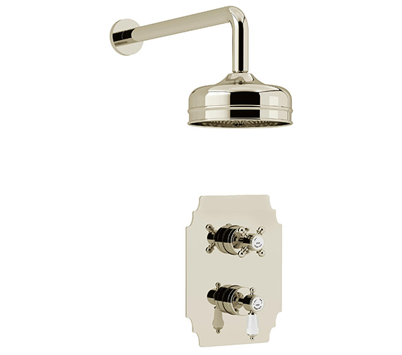 Heritage Glastonbury Recessed Thermostatic Gold Valve With Fixed Head Kit