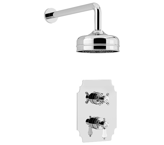 Heritage Glastonbury Recessed Thermostatic Chrome Valve With Fixed Head Kit