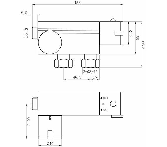 Technical drawing QS-V41492 / VBS023