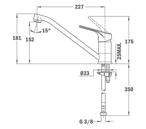 Technical drawing QS-V84278 / BTK106