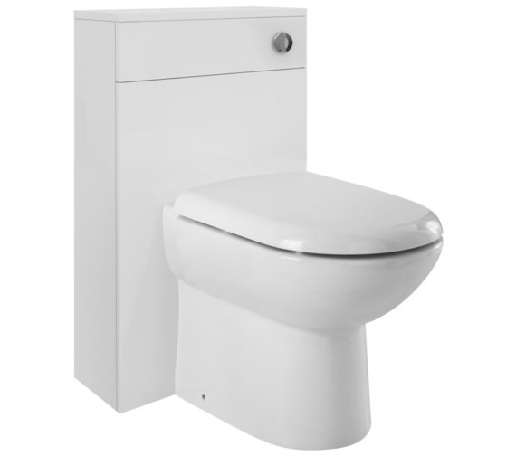 Lauren Design 500mm Gloss White Back-To-Wall WC Furniture Unit