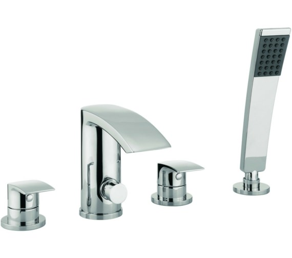 Lauren Cone 4 Hole Deck Mounted Bath Shower Mixer Tap Set With Kit