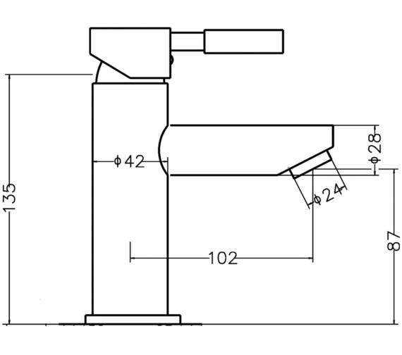 Technical drawing QS-V45015 / FJ318