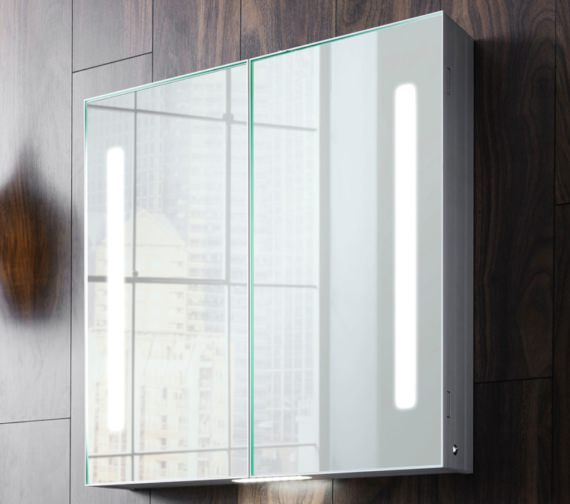 Additional image of Bauhaus Allure 700mm Height Double Door Mirror Cabinet - More Size Available
