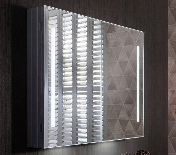 Alternate image of Bauhaus Allure Double Door Mirror Cabinet 900 x 700mm