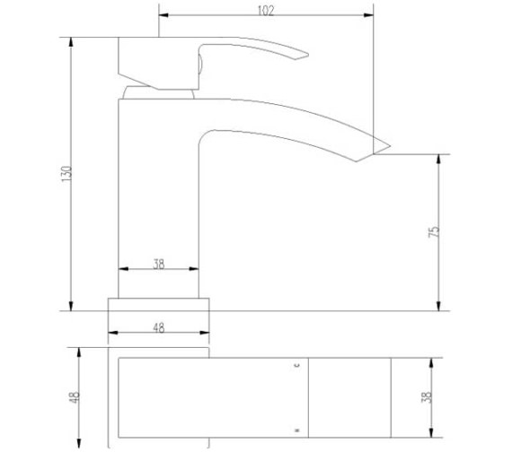 Technical drawing QS-V10874 / TSI315