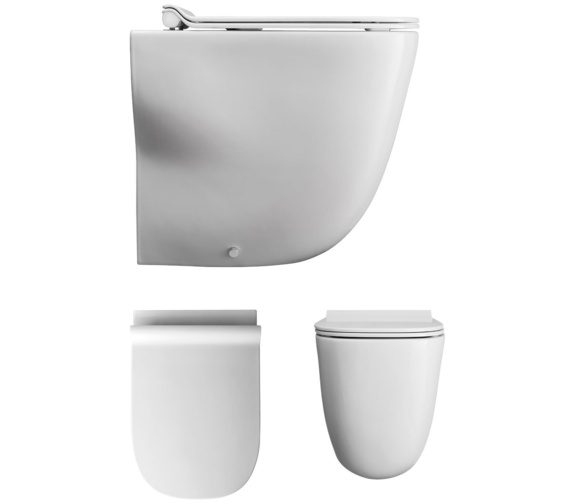 Bauhaus Wild Rimless Back To Wall WC With Soft Close Seat 520mm