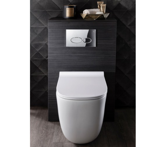 Alternate image of Bauhaus Wild Rimless Back To Wall WC With Soft Close Seat 520mm