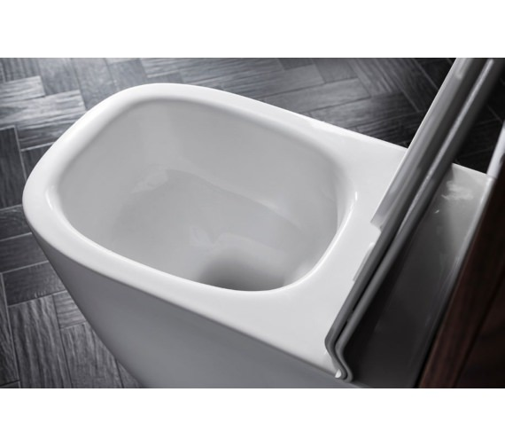 Additional image of Bauhaus Wild Rimless Back To Wall WC With Soft Close Seat 520mm