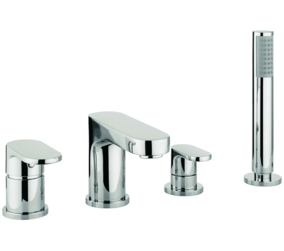 Beo Silk 4 Hole Deck Mounted Bath Shower Mixer Tap With Kit