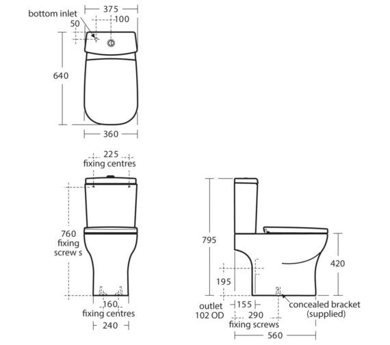 Technical drawing QS-V24118 / T325301