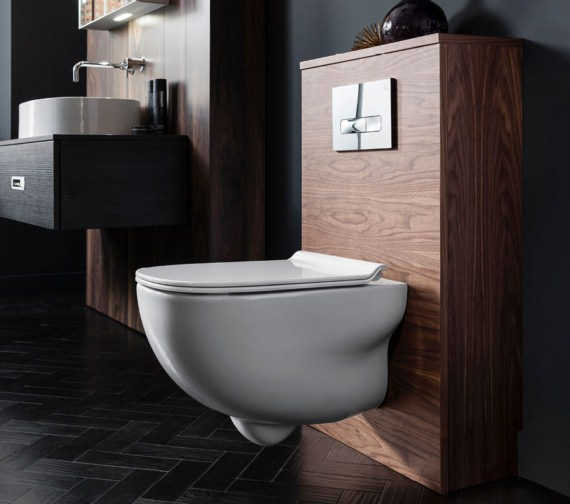 Alternate image of Bauhaus Wild Wall Hung WC With Soft Close Seat 520mm
