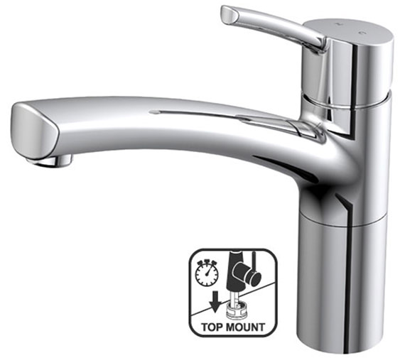 Teka TTM 107C Top Mount Single Lever Arch Style Neck Kitchen Sink Mixer Tap