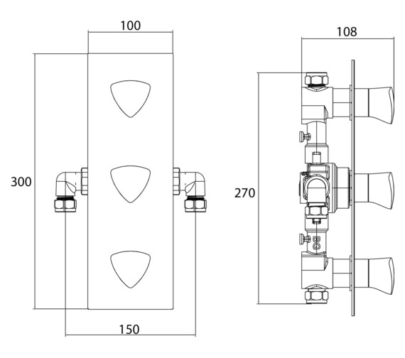 Technical drawing QS-V6887 / BRG SHC3STP C