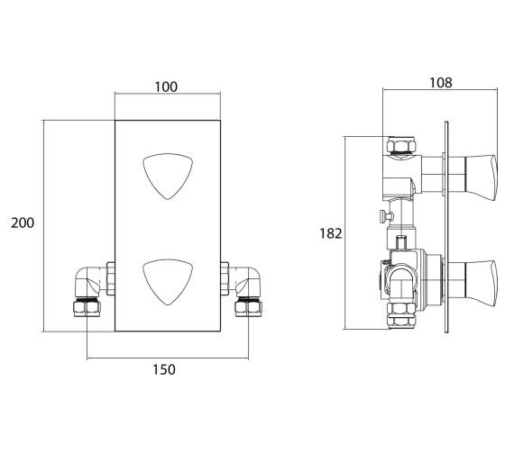 Technical drawing QS-V6889 / BRG SHCVO C