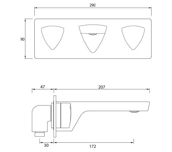 Technical drawing QS-V82468 / BRG WMBAS C