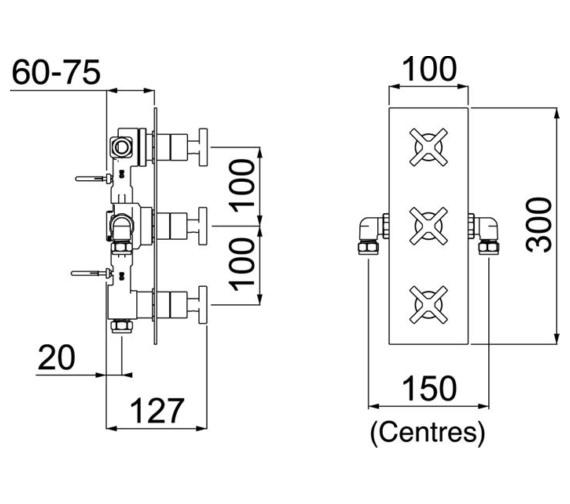Technical drawing QS-V6910 / CAS SHC3DIV C