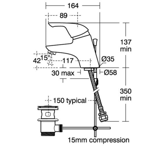 Technical drawing QS-V41044 / B7886AA