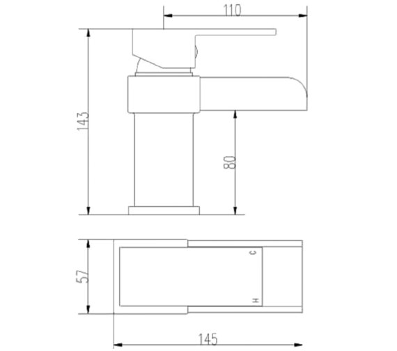 Technical drawing QS-V27952 / TWF305