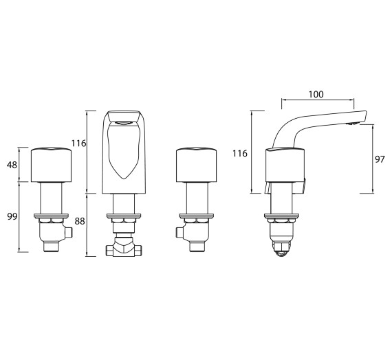 Technical drawing QS-V82463 / BRG 3HBAS C