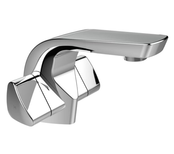 Bristan Bright Single Hole Basin Mixer Tap With Clicker Waste